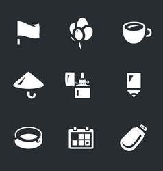 Set of souvenir icons vector