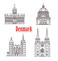 Architecture denmark landmark buildings vector