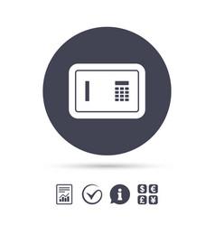 Safe sign icon deposit lock symbol vector