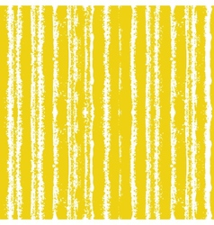 Striped pattern with brushed lines in yellow vector