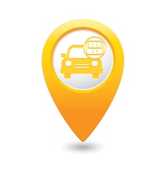 Cars transmission map pointer yellow vector