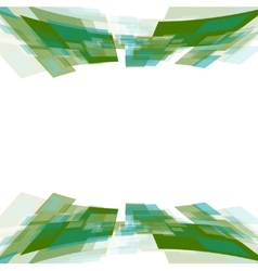 Green motion squares on white vector