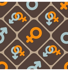 Seamless abstract background with gender symbols vector