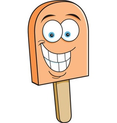 Cartoon frozen treat smiling vector
