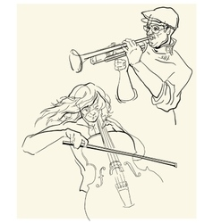 Sketch of musicants vector