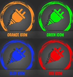 Plug icon fashionable modern style in the orange vector