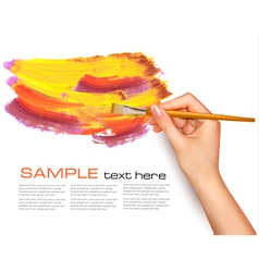 Abstract background with hand vector