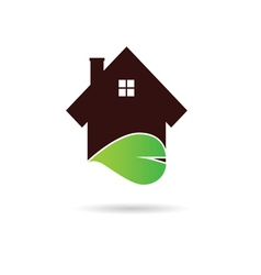 House with green leaf vector