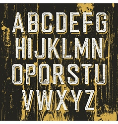 Vintage retro typeface on wooden texture with vector