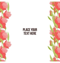 Flower tulip background vector image