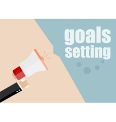 Goals setting megaphone icon flat design vector