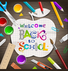 Back to school - greeting vector