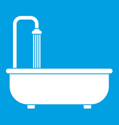 Bathroom icon white vector