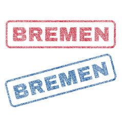 Bremen textile stamps vector