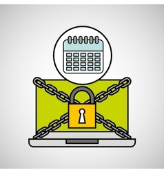 Calendar security internet technology vector