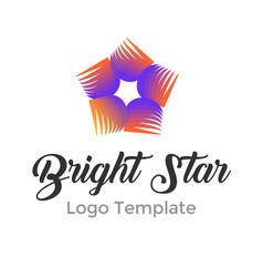 colorful star logo design template modern star vector image vector image