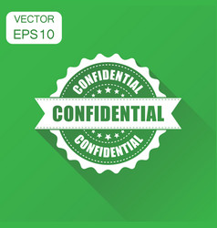 confidential rubber stamp icon business concept vector image