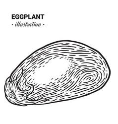 eggplant fresh food hand drawn vector image vector image