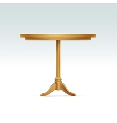 Empty Round Wood Table vector image vector image