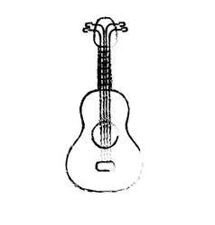 Figure acoustic guitar instrument to play vector