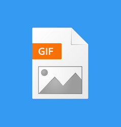 Gif document gif file format icon vector