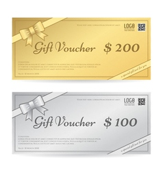 Gift voucher or gift certificate template vector