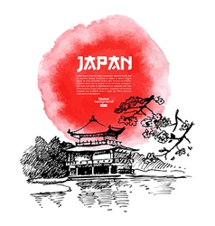 Hand drawn Japanese Sketch vector image vector image
