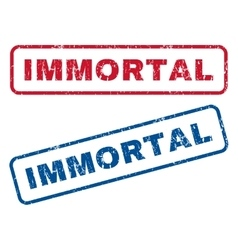 Immortal rubber stamps vector
