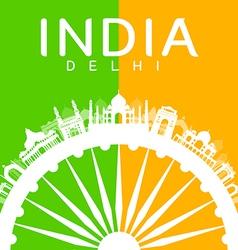 India travel landmarks vector