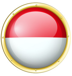 Indonesia flag in round frame vector