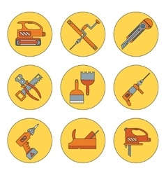 Line working color tools for construction vector image