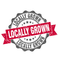 Locally grown stamp sign seal vector