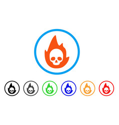 Mortal flame rounded icon vector