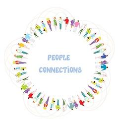 People communication background - frame vector image vector image