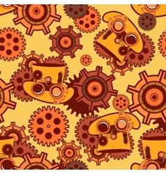 seamless pattern Steampunk mechanism vector image