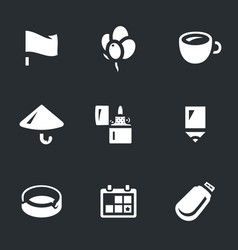 set of souvenir icons vector image
