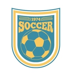 Soccer sign logo badge vector image