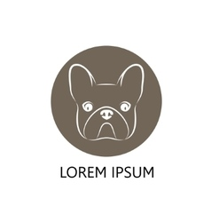 Stylized head of a dog on brown background vector