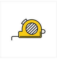 Tape measure icon on white background vector
