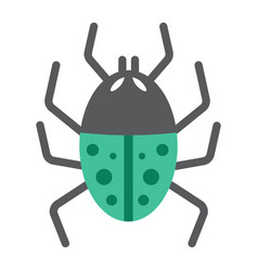 Virus flat icon infection and security vector