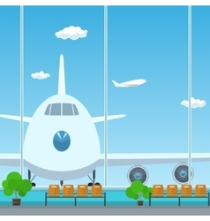 Waiting room in airport vector