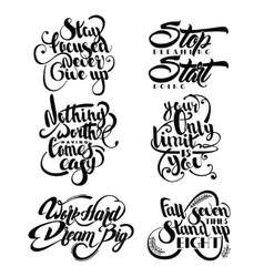 Set of decorative monochrome quotes vector
