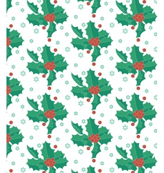 Christmas red berries vector