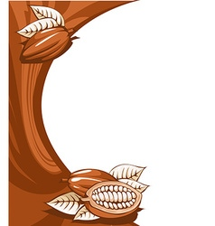 Brown cocoa bean still life abstract background vector