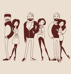 Fashion people man and woman vector