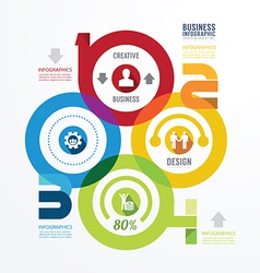 Modern design infographic circle templatecan vector