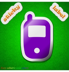 Mobile telecommunications technology icon sign vector