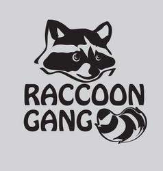 Raccoon gang vector