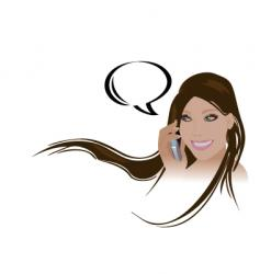 girl phone vector image