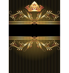 Background with luxurious golden ornament vector image